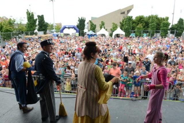 Journée record à l'Expo avec 25 888 visiteurs pour la journée Télé-Québec avec, entre autres, les vedettes de l'émission jeunesse « Toc toc toc » (Groupe CNW/Exposition agricole et alimentaire St-Hyacinthe)