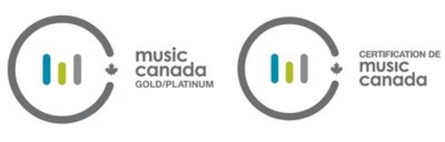 New logos for Music Canada's Gold/Platinum program (CNW Group/Music Canada)