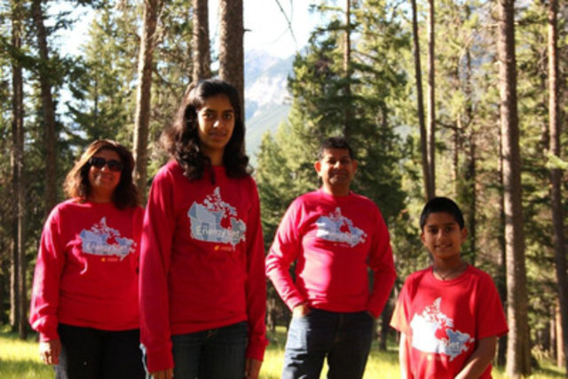 The Khiroya Family: Seema, Priyanka, Ajay and Jayshiv (photo credit Todd Korol) (CNW Group/Shell Canada Limited)