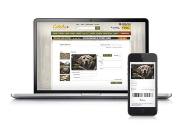 Cabela's Canada using the customizable Virtual Gift Card solution powered by Moneris. (CNW Group/Moneris Solutions Corporation)