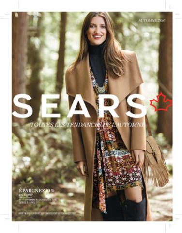 Page couverture de la section mode du catalogue Automne 2016 de Sears Canada (Groupe CNW/Sears Canada Inc.)