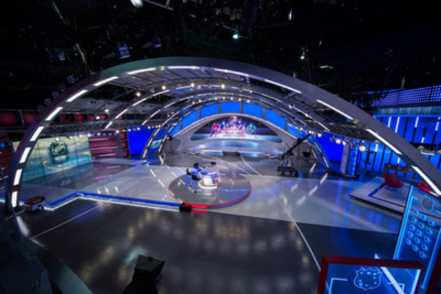 Sportsnet unveils its new state-of-the-art Hockey Central Studio, which debuts Wednesday, Oct. 8 and features nine separate sets and 52 monitors, including the largest in a Canadian television studio. (CNW Group/Sportsnet)