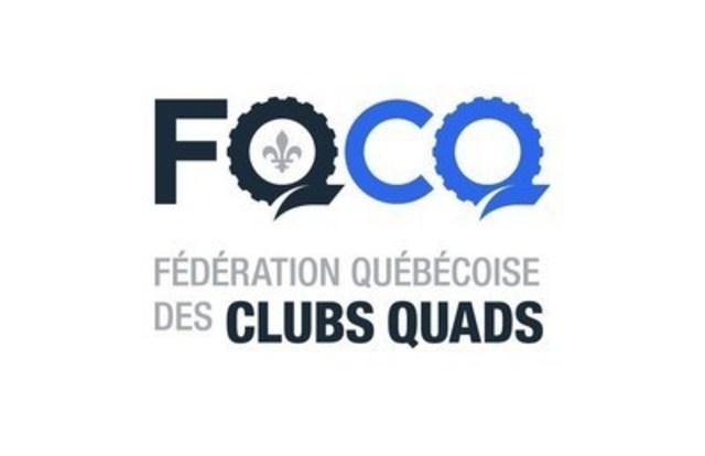 Logo: Fédération Québécoise des Clubs Quads (CNW Group/Fédération des clubs de motoneigistes du Québec)