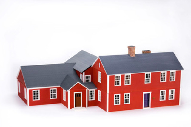 3D printed model of home post-construction. (CNW Group/Z Corporation)