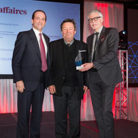 André Thompson et Gilles Létourneau reçoivent le Prix de la gouvernance. (Crédit photo: Christian Blais) (Groupe CNW/ACCEO Solutions Inc.)