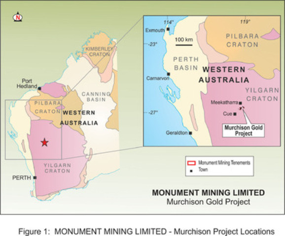 Appendix 3: Figure 1: Murchison Location Plan (CNW Group/Monument Mining Limited)