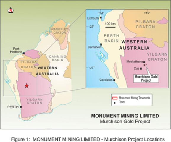 Appendix 3: Figure 1: Murchison Location Plan (CNW Group/Monument Mining Limited)