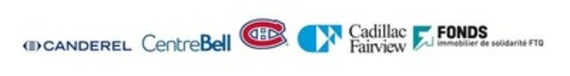 Cadillac Fairview, Canderel, Fonds immobilier de solidarité FTQ and Club de hockey Canadien (CNW Group/CADILLAC FAIRVIEW)