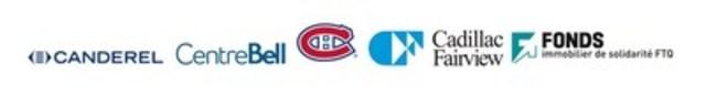 Cadillac Fairview, Canderel, Fonds immobilier de solidarité FTQ and Club de hockey Canadien (CNW Group/CADILLAC FAIRVIEW)