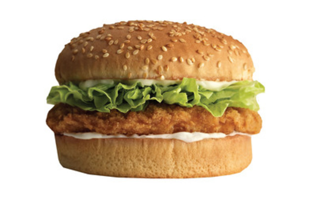 A&W Chubby Chicken Burger, made with chicken raised without the use of antibiotics. (CNW Group/A&W Restaurants)