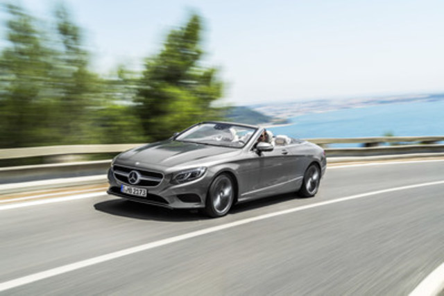 The new S-Class Cabriolet is the fifth variant of the current S-Class family in the Canadian market and the first open-top flagship four seater from Mercedes-Benz since 1971. (CNW Group/Mercedes-Benz Canada Inc.)