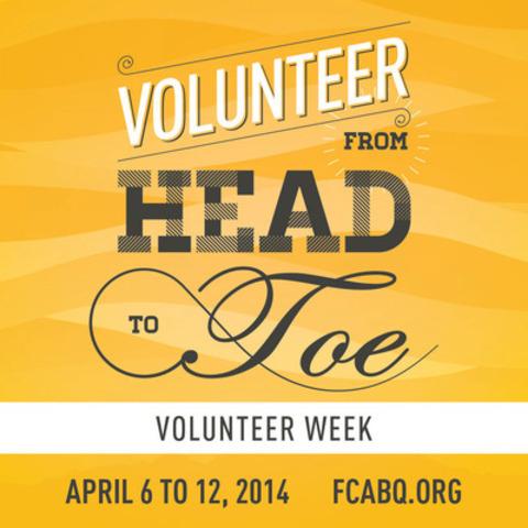 Unveiling Volunteer Week 2014's theme. (CNW Group/Fédération des centres d'action bénévole du Québec)