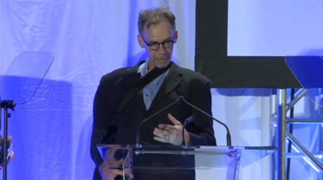 Video: The New York Times was the recipient of the CJF Honorary Tribute. David Carr, business columnist and culture reporter, accepts the honour on behalf of the Times at the 16th Annual Canadian Journalism Foundation Awards.