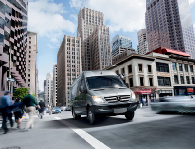 For the fourth consecutive year, a comprehensive report has shown that the Mercedes-Benz Sprinter continues to offer the lowest total cost of ownership in its class in Canada. (CNW Group/Mercedes-Benz Canada Inc.)