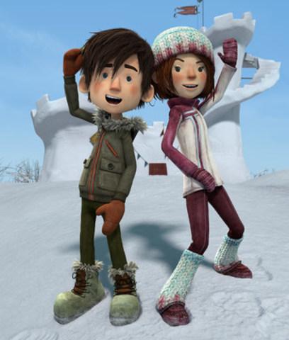 Rendu final de vos héros Luc et Sophie en version animée 3D, qui sont également nouveaux résidents permanents au musée  Grévin. (Groupe CNW/Musée Grévin Montréal)