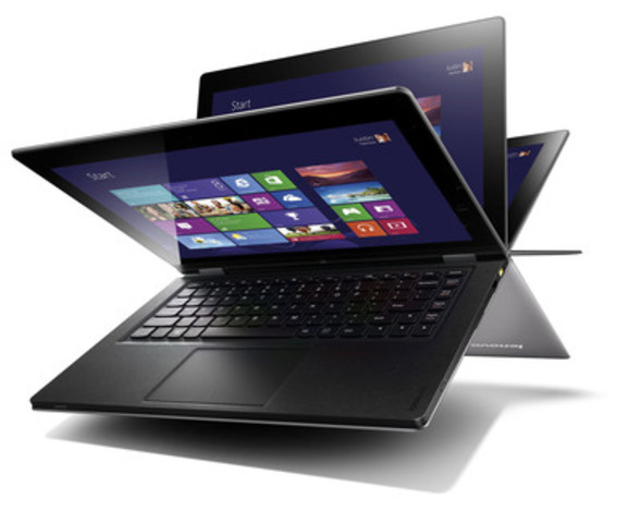 Lenovo IdeaPad Yoga redefines mobile computing by providing flexibility and choice as a multi-mode Ultrabook. (CNW Group/Staples Canada Inc.)