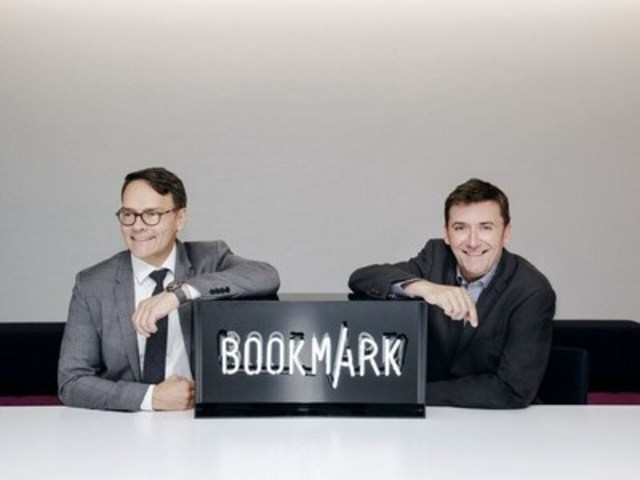 Bookmark Content and Communications Co-PDG Raymond Girard et Simon Hobbs (Groupe CNW/Bookmark Content)