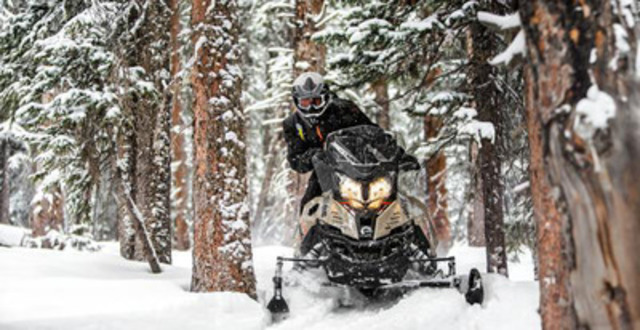 The new Ski-Doo Renegade Enduro snowmobile is inspired by an adventure motorcycle. © BRP 2015 (CNW ...