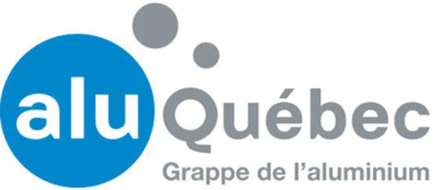 Logo : AluQuébec (Groupe CNW/AluQuébec - Grappe industrielle de l'aluminium du Québec)
