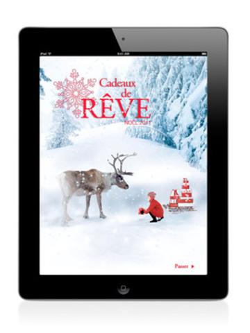 Ecran d'ouveture de l'application du catalogue Cadeaux de Reve (Groupe CNW/Sears Canada Inc.)