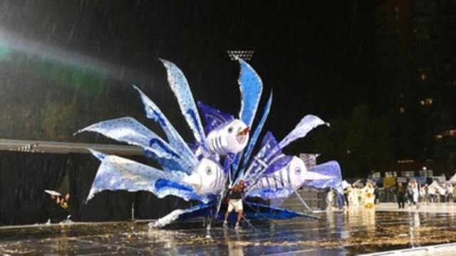 """Sport Fishing in the Caribbean Sea,"" designed and performed by Osei Brand, took home the seventh ..."