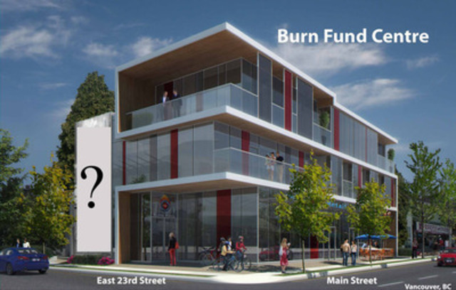 Join BC's Professional Fire Fighters this Sunday, June 21st as they unveil their Burn Fund Centre tributary wall artwork.  The building is one of the first in North America to use this remarkable style of photo concrete technology. (Image credit:  Vividus Design Inc.) (CNW Group/British Columbia Professional Fire Fighters Burn Fund)