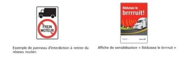 Bruit routier - Québec sensibilise les conducteurs de véhicules lourds à l'usage adéquat du frein moteur (Groupe CNW/Ministère des Transports, de la Mobilité durable et de l'Électrification des transports)