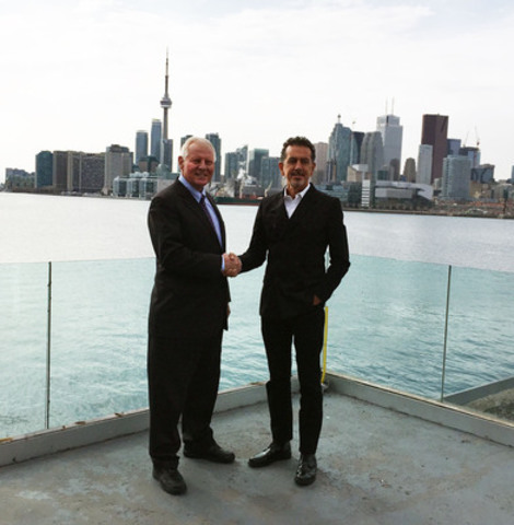 The Princess Margaret Cancer Foundation President and CEO Paul Alofs and INK Entertainment CEO Charles Khabouth aim to create a new type of charity walk experience. (CNW Group/OneWalk To Conquer Cancer)