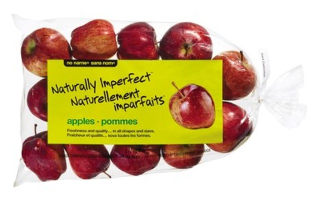 Launched in March 2015 with apples and potatoes in Ontario and Quebec, no name® Naturally Imperfect™ produce can now be found across Alberta in select Loblaw stores. (CNW Group/Loblaw Companies Limited)