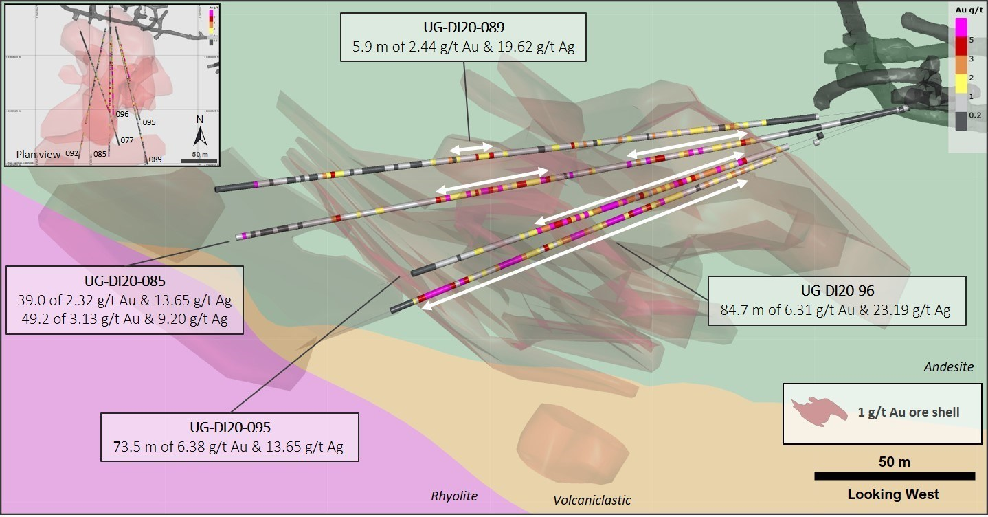 Figure 2 – Diluvio West delineation update (CNW Group/Premier Gold Mines Limited)