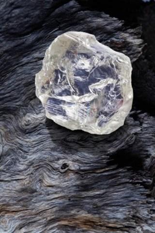 Le diamant brut de qualité gemme de 187,7 carats, appelé  Diavik Foxfire, a été mis au jour à la mine Diavik, située dans une région éloignée des Territoires du Nord-Ouest, au Canada. (Groupe CNW/RIO TINTO PLC)