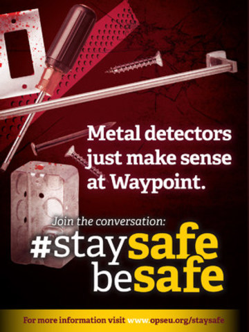 Waypoint needs metal detectors on all wards (CNW Group/Ontario Public Service Employees Union (OPSEU))