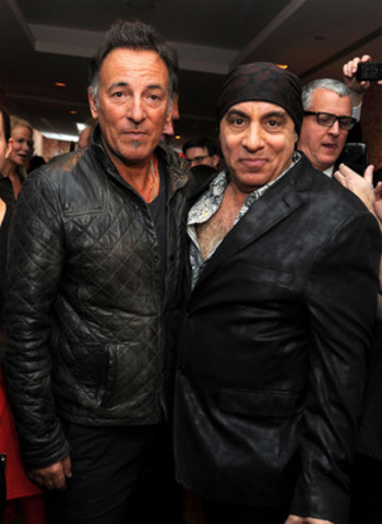 Steven Van Zandt and Bruce Springsteen at the NYC premiere of Lilyhammer, a Netflix Original Series, debuting ...
