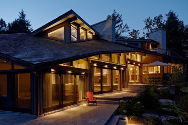 Residential Wood Design Award Winner - Kennisis Lake House, Haliburton, ON; Architect: Altius Architecture Inc.; Engineer: CUCCO engineering + design (CNW Group/Ontario Wood WORKS!)