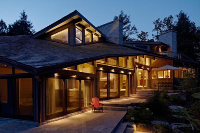 Residential Wood Design Award Winner - Kennisis Lake House, Haliburton, ON; Architect: Altius Architecture Inc.; Engineer: CUCCO engineering + design (CNW Group/Ontario Wood WORKS!)