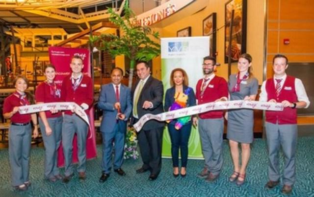 Nous avons célébré le lancement d'un service saisonnier de Vancouver à Cancun aujourd'hui!   (Groupe CNW/Air Canada - Lignes et Réseaux)