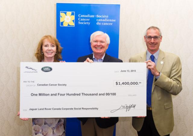 Jaguar Land Rover Canada donates $1.4 million to Canadian Cancer Society (CNW Group/Jaguar Land Rover Canada)