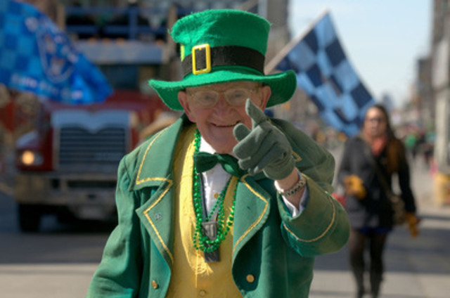 With approximately 100 floats, bands and marching sections from a variety of cultural groups, the Toronto St. Patrick's Day Parade on Sunday, March 15 will celebrate Ireland, Toronto's Irish community and the diversity that makes Toronto great. (CNW Group/St. Patrick's Parade Society)