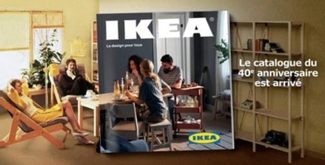 Le 40e anniversaire IKEA Catalogue est arrive. Disponible partout au Canada dans votre magasin IKEA en Août ici 2016. (Groupe CNW/IKEA Canada)