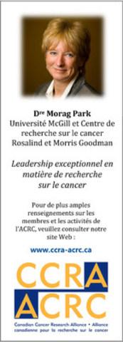 Les Prix de l'ACRC en 2015 (Groupe CNW/Alliance canadienne pour la recherche sur le cancer)