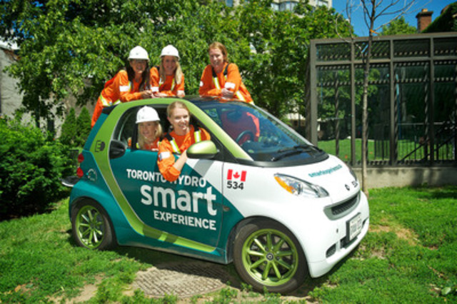 How many Toronto Hydro employees fit in an electric vehicle? The utility participated in Pollution Probe's 2012 Clean Air Commute from June 18 - 24. Over 180 eager commuters biked, walked, car pooled and took public transit. Their efforts helped to prevent over 6.9 million grams of pollutants from entering the atmosphere (CNW Group/Toronto Hydro Corporation)