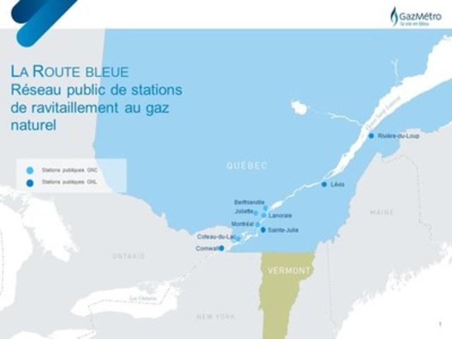 La Route bleue (Groupe CNW/Gaz Métro)