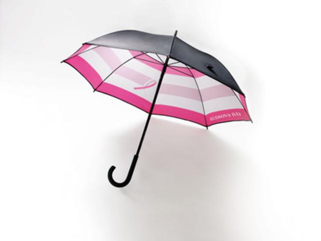 La Fondation HBC souligne le mois de la sensibilisation au cancer du sein par le lancement d'un parapluie en série limitée dans les magasins La Baie d'Hudson  (Groupe CNW/la Baie d'Hudson)
