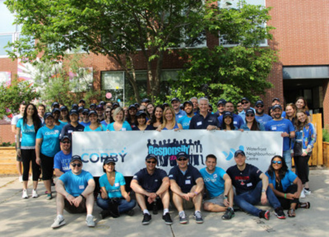 Corby Spirit and Wine employees will be volunteering today at communities across Canada, working together to support and enhance the neighbourhoods where they live and work. (CNW Group/Corby Spirit and Wine Communications)
