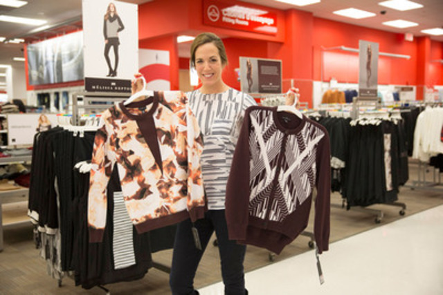 Perfect for the holidays and very affordable, Quebec designer Mélissa Nepton's exclusive collection is now available at Target stores across Quebec, with prices ranging from $29.99 to $69.99. For the occasion, Mélissa Nepton met with guests at the Place Alexis Nihon location. (CNW Group/Target Corporation)