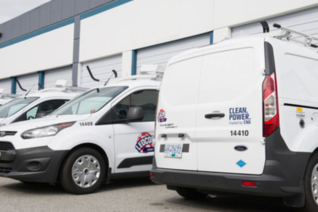 Ledcor now owns one of Canada's largest compressed natural gas vehicle fleets. (CNW Group/Ledcor Industries)