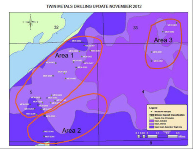 Figure 1 is a map illustrating the location of 30 drill holes reported in this press release which can be found on the Company website under this press release at www.duluthmetals.com. (CNW Group/Duluth Metals Limited)