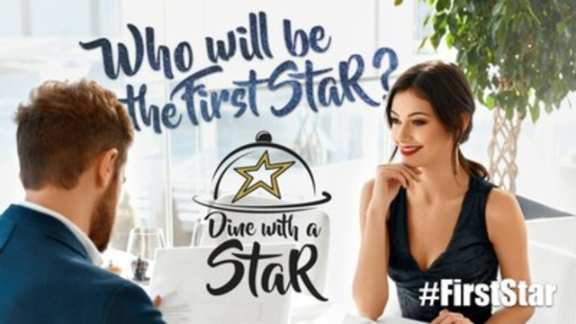 Who will be the #FirstStar? (CNW Group/Dine with a Star)