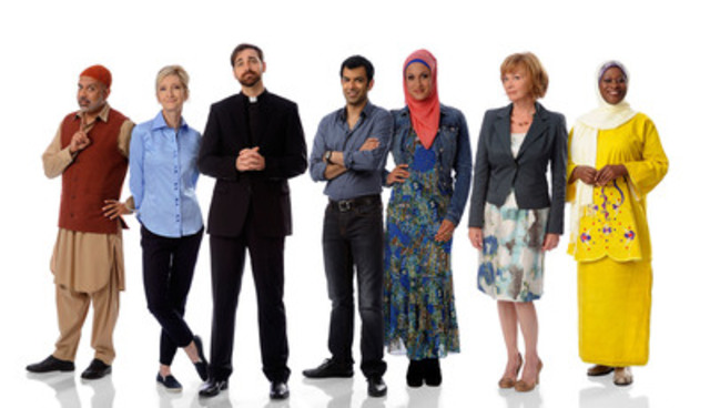 Cast of Little Mosque on the Prairie Mondays 830 pm (900 NT) on CBC TV (CNW Group/Canadian Broadcasting Corporation)