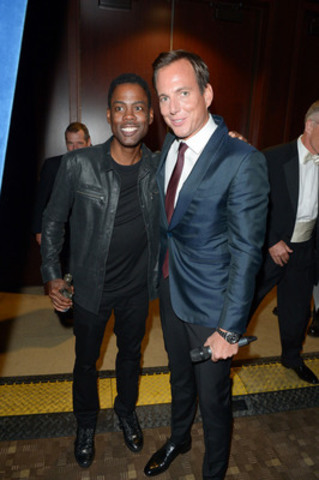 Headline Performer Chris Rock (left) with Will Arnett, Master of Ceremonies (right), at Laughter Is The Best ...